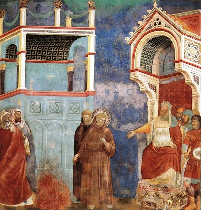 Assisi Szent Ferenc a szultán előtt